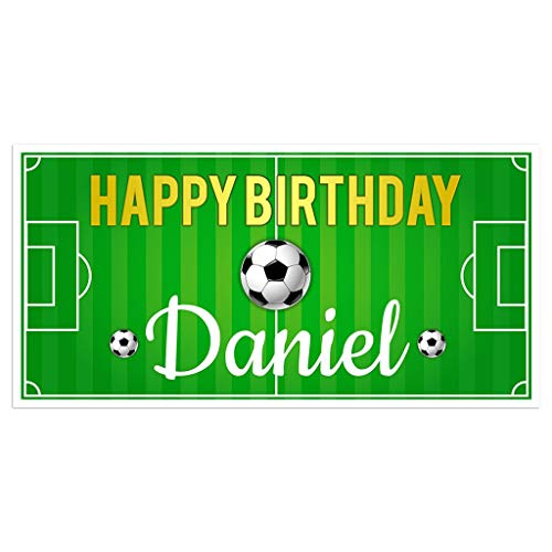 - Soccer Field Birthday Banner Personalized Party Backdrop Decoration