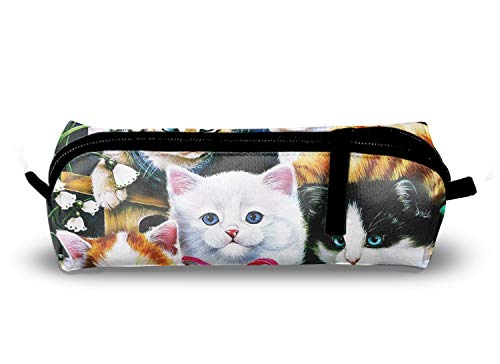 Kitten Pary Store Pencil Case Box Pen Bag Stationery Box 8.3 ×2.1× 2 inch