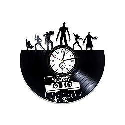 Kovides Vinyl Record Clock Guardians of the Galaxy Marvel Comics Wall Clock Guardians of the Galaxy Vinyl Wall Clock Guardians of the Galaxy Clock Wall Clock Modern Guardians of the Galaxy Gift Marvel