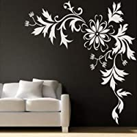 "Kayra Decor ""Sonic Bloom"" Reusable Wall Stencil in Plastic Sheet (48x48 Inches, Multicolour)"