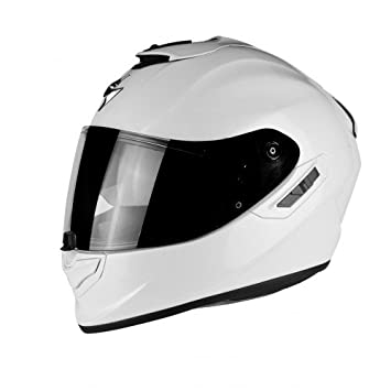 Blanc S SCORPION Casque moto EXO 1400 AIR SOLID Blanc perle
