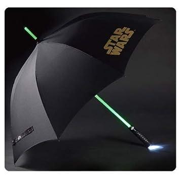 Star Wars Paraguas con luz sable laser 100 cm