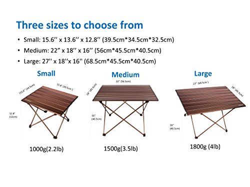 Superior ... Trekology Portable Camping Table With Aluminum Table Top  ...