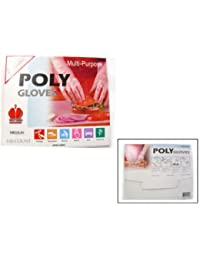 Bargain 200 Medium Poly / Disposable / Food Service / Beauty Gloves reviews
