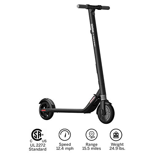 SEGWAY ES1| eScooter- High Performance, 8-Inch Front and 7.5-Inch Back tires, up to 15.5 of Range and 12.4 of mph of Top Speed, Cruise Control, Easy to Clean Foot Pads made in New England