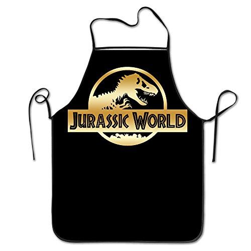 Jurassic World Black A Gold Logo Kitchen Cooking Apron