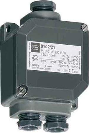Caja de derivación de Acero 8102 EX E 8102/21/31: Amazon.es: Bricolaje y herramientas