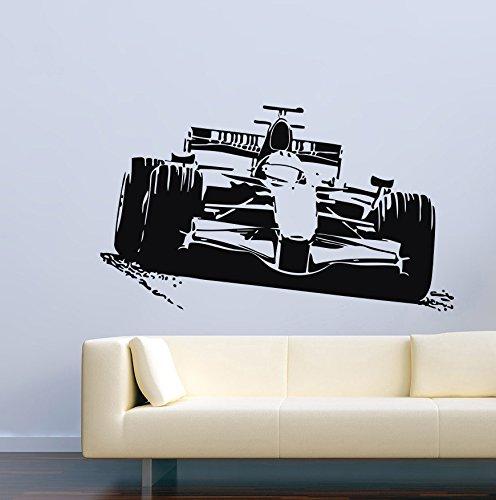 Cool Car Sport Race Formula 1 Man Cave Garage Home Kids Room Wall Decals Vinyl Decor Stickers MK1582
