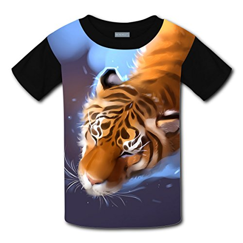 Cotton New Funny Tshirt 3D Make Custom With Tiger For Boy Girl - In City Shopping Oklahoma Centers