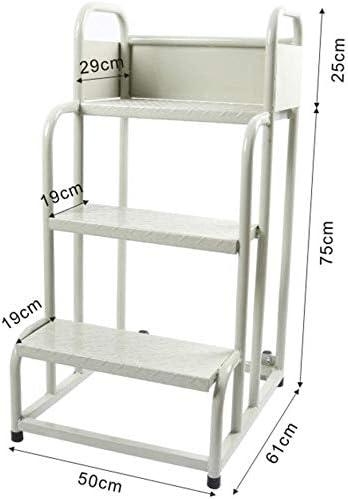 QTQZDD Escalera Taburete Reposabrazos de Hierro multifunción Se Puede Mover PoleaDiseño de Todo el Equipo Trolley Safety, Escalera de 2, 3 peldaños de Doble Uso (Tamaño: C): Amazon.es: Hogar
