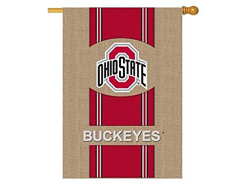 "NCAA Vertical Flag Size: 44"" H x 28"" W, NCAA Team: Ohio State"