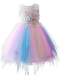 57f2ceac7f1 Baby Girls Flower Mythical Costume Cosplay Princess Dress up Birthday  Pageant Party Dance Outfits Evening Gowns