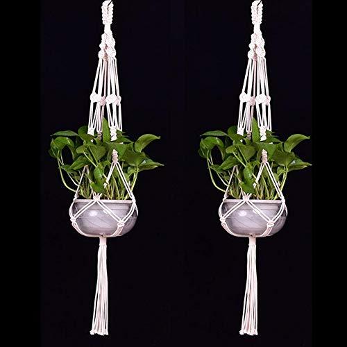 (Rope - Tassel Purely Hand Knitting Garden Decor Flower Pot Plant Hanging Hemp Rope - Hemp Rope Cages Jute Tray Rope Flowerpot Rope Plant Hemp Bonsai Cotton Twine Plant Knit Leaf Pot Flower Big Hemp)