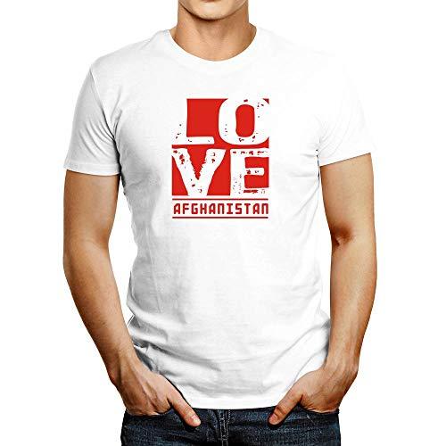 Idakoos Love Afghanistan T-Shirt White
