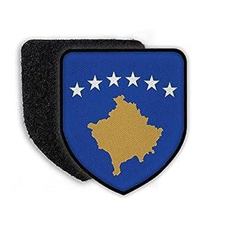 Patch Flagge von Kosovo Wappen Land Flagge Zeichen Staat Fahne Aufnäher #21453