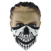 L-FENG-UK Skull Half Face Mask Breathable Face Shield Guards For Snowboard Ski Cycling Motorcycle (Size-B)