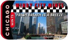 Chicago Windy City Mints, Chicago Souvenirs, Chicago Souvenir, Mint Tins