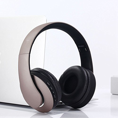 XHKCYOEJ Headset Stereo Headset/Head Wear/Bluetooth/Headphones/Wireless/Sports/Headphones,Luxury Gold Color: Amazon.co.uk: Electronics