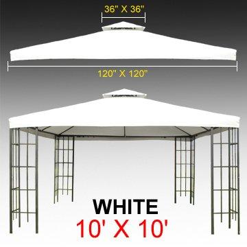 10u0027 X 10u0027 Gazebo Replacement Canopy Top Cover - White Color Double-  sc 1 st  Amazon.com & Amazon.com : 10u0027 X 10u0027 Gazebo Replacement Canopy Top Cover - White ...