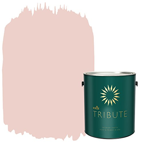 TRIBUTE Interior Matte Paint and Primer in One, 1 Gallon, Flapper Pink (TB-92)