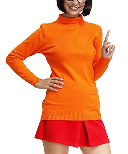 Halloween Womens Long Sleeve Winter Sweater Turtleneck