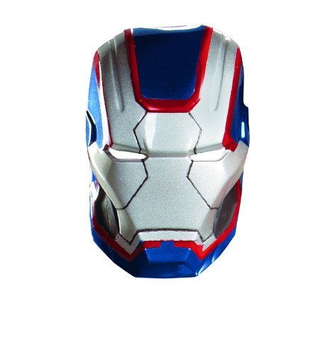 Disguise Marvel Iron Man 3 Iron Patriot Vacuform Mask Costume Accessory, Blue/Red, One Size Adult
