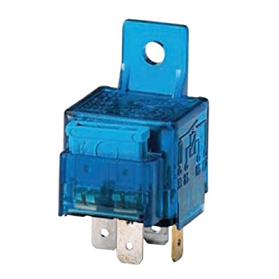 HELLA 003530041 12V/25 Amp SPST Mini ISO Relay with 25 Amp Fuse and Bracket,Blue: Automotive