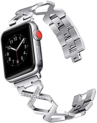 Amazon.com: LooBooShop - Correa de diamante para reloj de ...