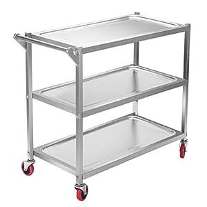 Amazon Com Happybuy Utility Cart 3 Shelf Utility Cart On