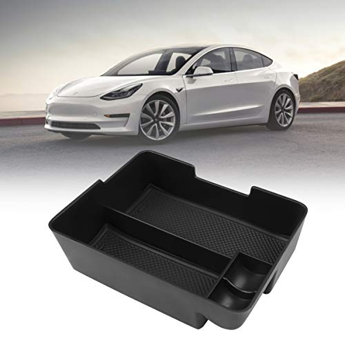 Easy Eagle Center Console Organizer Insert Tray for Tesla Model 3 2017 2018 2019 Accessories Holder -Black
