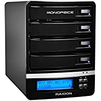 Monoprice 4-Bay NAS Enclosure Up-To 16TB (4 x 4TB) with RAID, DLNA (111157)