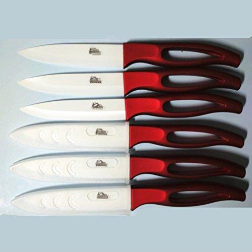 Kitchen Bar Ceramic Steak Knife super sharp knifes diff. colors 6pcs/lot by GAOGAO (Image #2)