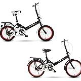KimBird 20 Inch Outroad Mountain Bike, Steel Carbon Mountain Trail Bike, Lightweight Mini Folding Bike, Double Disc Brake Bicycle Folding Mountain Bike Bicycle, Urban Commuter Tool