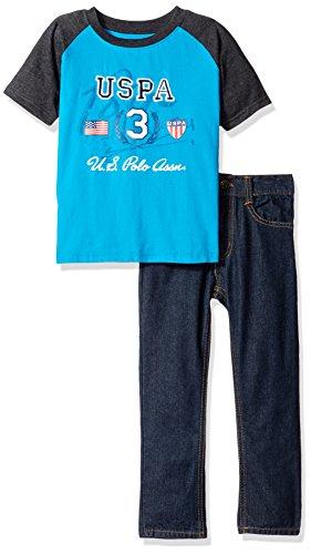 U.S. Polo Assn. Boys Little Color Block T-Shirt Denim Jean