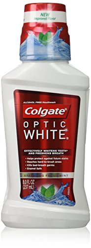 Colgate Optic White Mouthwash, 8 Fluid Ounce