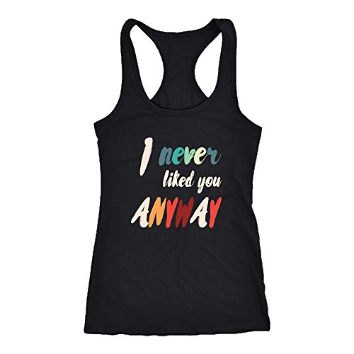 Funny Racerback Tank Top T-Shirt. Funny Funny Tank. Cool Shirt for Funny (L)