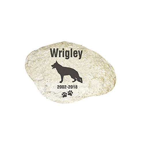 GiftsForYouNow Engraved Dog Memorial Garden Stone, German Shepard