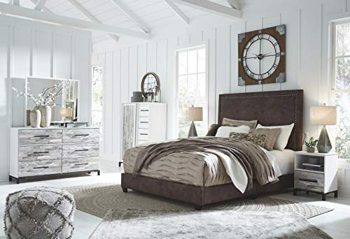 Ashley Furniture Signature Design - Dolante Upholstered Bed - Queen Size - Contemporary Style
