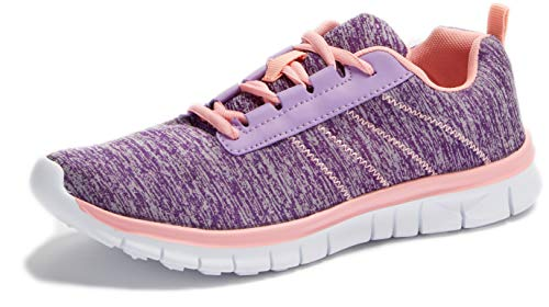 Women's Sneakers Go Walk Womens Fashion Sneakers Ultra Lightweight Knitted Running Shoes Athletic Casual Walking Shoes Slip-On Performance Pink/Blue 9