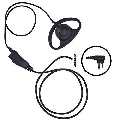 IMPACT D-Ring Earhanger Earpiece for Motorola 2-Pin Radio (M1-S1W-D2) - D-ring Earpiece