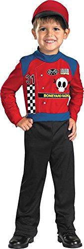 [Baby-Toddler-Costume Boneyard Racer Toddler Costume 2T Halloween Costume] (Toddler Girl Racer Costume)