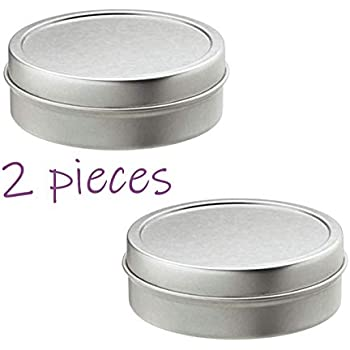 MagnaKoys® 2oz Shallow Round Steel Tin Can w//slip on Window cover Tops 4