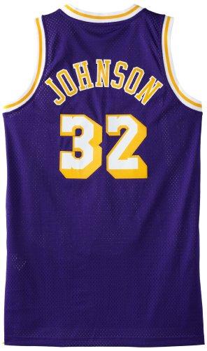 NBA Los Angeles Lakers Magic Johnson Swingman Jersey (Purple, Medium)