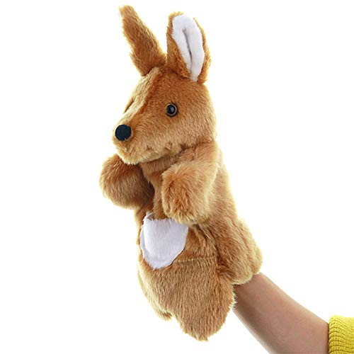 KOSSJAA Animals Hand Puppet for Kid Dogs Adults and Children Storytelling Game Props Toy Girls Kindergarten Role Play (Kangaroo)