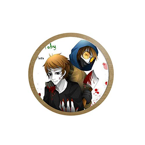 Creepypasta Necklace for Fans Jeff the Killer Ticci Toby Clockwork Anime Patterns Glass Dome Long 1 icebox Sticker Blackboard Sticker -