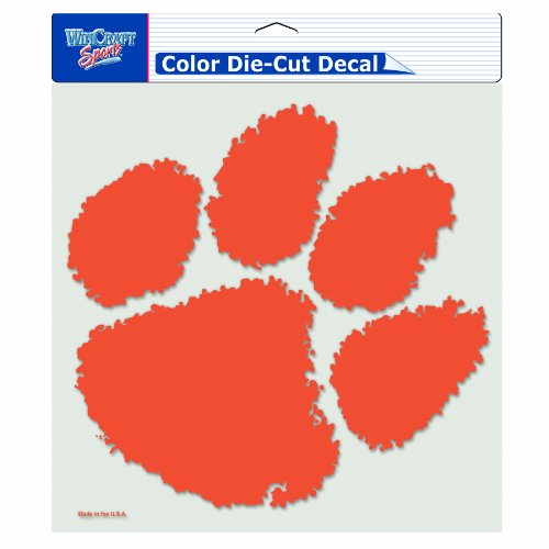 - NCAA Clemson Tigers 8-by-8 Inch Diecut Colored Decal