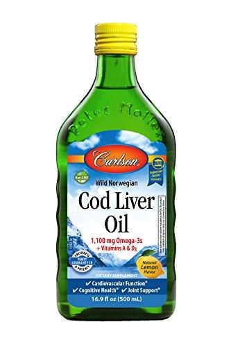 Off Liver - Carlson Cod Liver Oil, Norwegian, Lemon, 1,100 mg Omega-3s, 500 mL