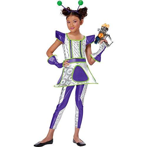 Deluxe Space Alien Costumes (Cosmic Cutie Child Costume - Small)
