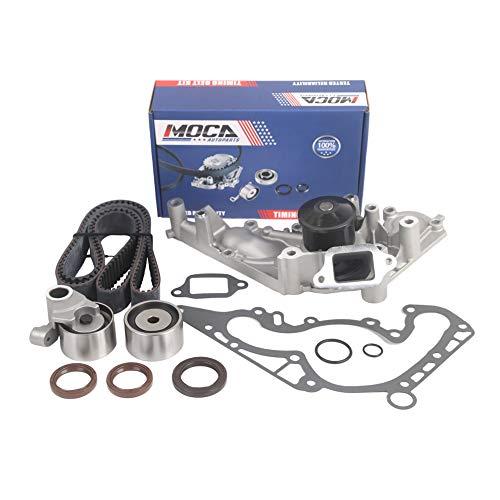 (MOCA Timing Belt Component Kit Water Pump Fit 90-97 Lexus LS400 SC400 Base 4.0L DOHC 1UZFE)
