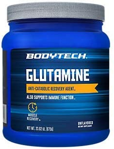 BodyTech Glutamine Freeform Amino Acid 4500 MG AntiCatabolic Recovery Agent, Unflavored 24 Ounce Powder